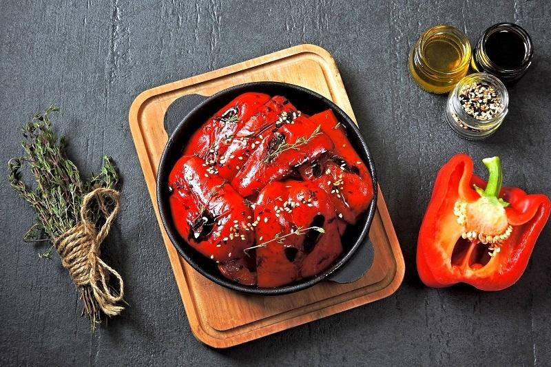 peperoni cotti nel forno